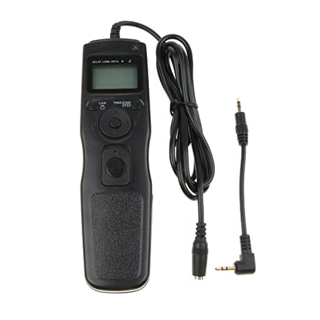 300D Digital Cameras 400D kesoto Portable Wired Timer Shutter Remote Release Control with Adapter Cord for Canon EOS 1000D 450D 350D