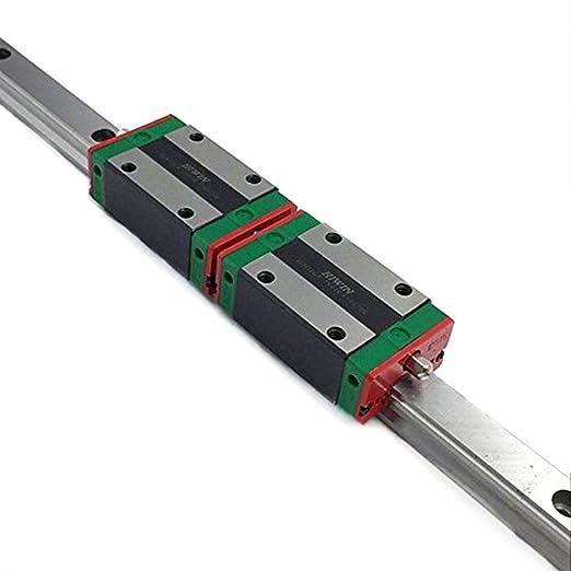 MXBAOHENG Guía Lineal HGR20 L1500 mm + 2 Unidades de Bloques ...