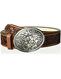 Women's USA Aged Floral Buckle