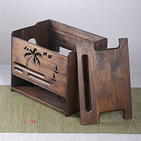 HX Home Router Storage Box Decoration Pendulum Solid Wood Coconut Unique Solid Wood Home Office Furniture Set Decoration