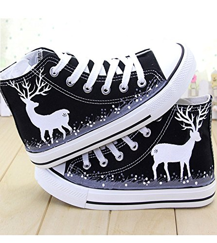 Shoes Casual Spring Shoes In Deer black Painted Shoes Sika Help A GUNAINDMXHand Shoes Sports the Shoes Canvas wq8pxpgY