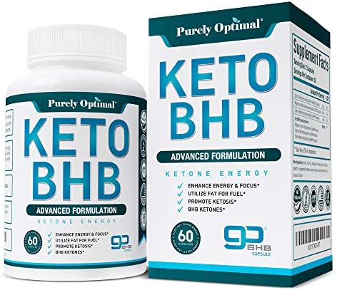 Premium Keto Diet Pills – Utilize Fat for Energy with Ketosis – Boost Energy Focus, Manage Cravings, Support Metabolism – Keto BHB Supplement for Women and Men – 30 Day Supply