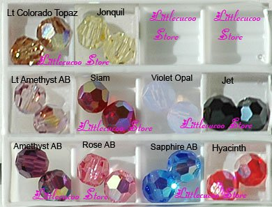 cheaper 2019 factory price united kingdom Lot 100 ROUND 4mm Swarovski 5000 Crystal Beads AB colors ...