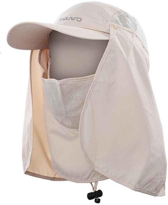 TSHOME Protecci/ón UV al Aire Libre 360 /° Sombrero para el Sol con protecci/ón para el Cuello y Tapa Antifaz Sombrero Plegable antimosquitos