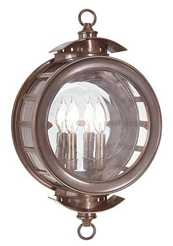 Troy Lighting Charleston 2-Light Outdoor Wall Lantern - Heritage Bronze Finish with Antique Clear (Heritage Bronze Finish)