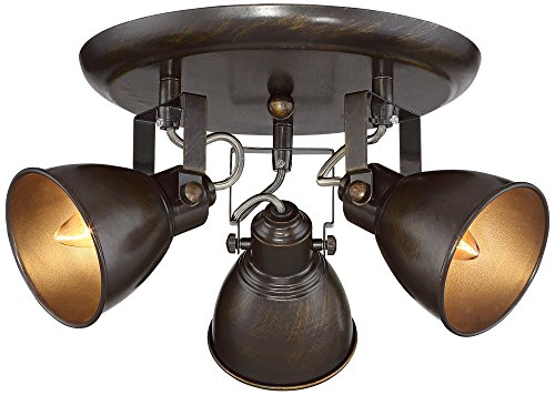 Pro Track Abby 3-Light Bronze Ceiling Track (Adjustable Track Head Fixture)