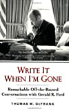 The New York Times bestseller?and the candid voice of an American presidentIn 1974, Newsweek correspondent Thomas M. DeFrank was interviewing Gerald Ford when the Vice President blurted out something astonishingly indiscreet. He then extracted a prom...