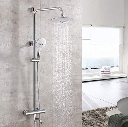 Duschkopf Regenduscheantikes Badezimmer-Waschbecken-Behälter-Hahn-Becken-Mischbatterie-Messing-Thermostatische Dusche Stellte Hahnduschebadezimmer-Duscharmaturen Regend