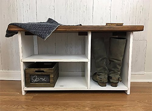 Merveilleux Entryway Bench With Shoe Storage  Rustic, Farmhouse Decor