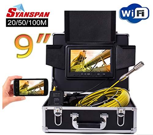 Dsaf 9inch Wireless WiFi 20/50/100M cámara de inspección de la Pipa de vídeo, Drenaje alcantarilla tubería Industrial...