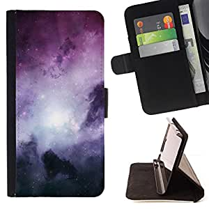 DEVIL CASE - FOR Samsung Galaxy A3 - Galaxy Stardust Space Purple Gas Clouds - Style PU Leather Case Wallet Flip Stand Flap Closure Cover