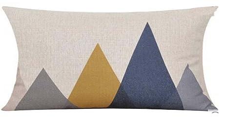 Elephant Deer Mountains Cotton Linen Throw Pillow Case Cushion Cover Home Sofa Decorative (7)