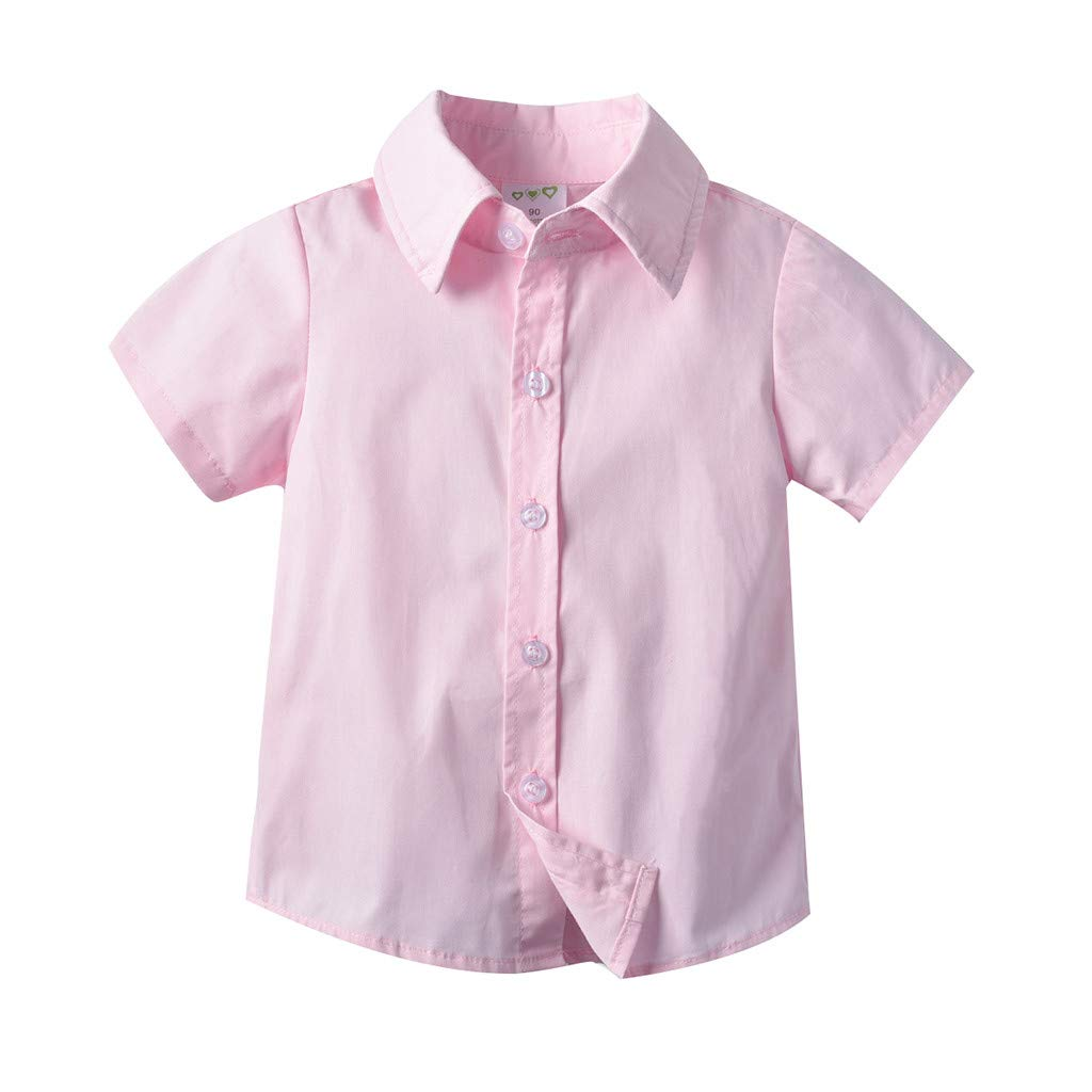 Dinlong Toddler Baby Boy Kids Gentleman Short-Sleeved Solid Color Tops Shirt Vest Shorts Bow Tie 4Pcs Outfits Set