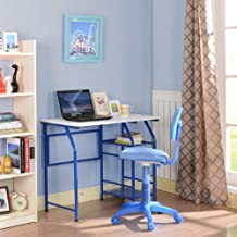 King's Brand Blue/White Kids Children's Workstation Computer Desk/Table