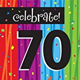 16-Count Paper Lunch Napkins, Celebrate 70, Milestone Celebrations