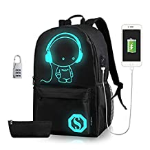 YOUFAN Cool Boys Girls Outdoor Backpack Anime Luminous Backpack Daypack Shoulder School Bag Laptop Bag
