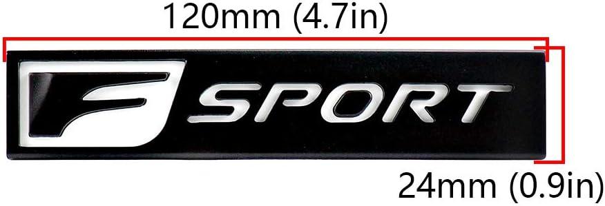 L/&U Placa Fender Logo 2X F-Sport Emblema del Coche Delantero Izquierdo Lado Derecho de la Etiqueta engomada para Lexus CT IS ES GS GX NX LS LX RX LC GS300 RX300,Bright Silver,Small