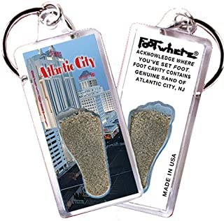"product image for Atlantic City ""FootWhere"" Souvenir Key Chain. Made in USA (AC104 - Resort)"