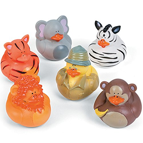 SmileMakers Safari Rubber Ducks-Prizes and Giveaways-24 per Pack