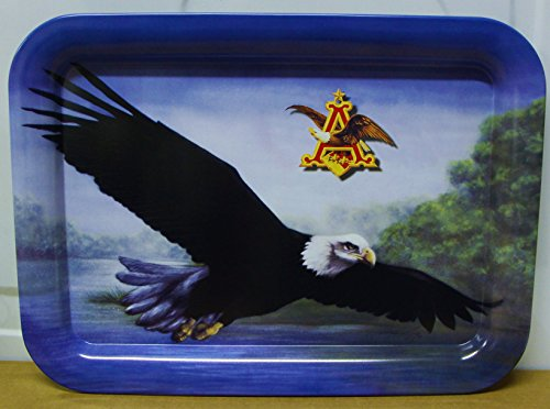 Anheuser Busch Soaring Eagle serving beer tray metal 1999 wild life series 17.5 x 12.75