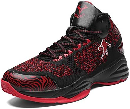 LFLDZ Chaussures de Basket-Ball pour Hommes Tissu /à Tricoter Bottes de Basket l/ég/ères,Bleu,36 Mode Haute Aide Couple Sneaker Ext/érieur Haut Technologie de Choc /élastique