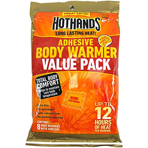 Hothands Adhesive Body Warmer Value Pack, 8 Body Warmers each (Value Pack of -