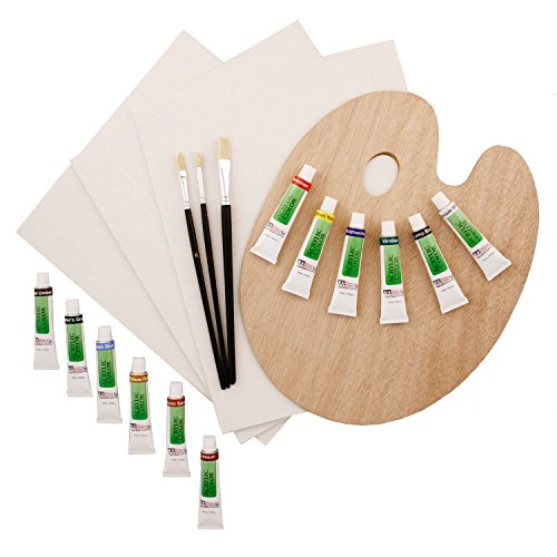 US Art Supply 19-Piece Acrylic Painting Set