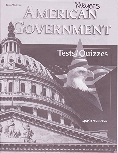 A Beka Book American Government Tests/Quizzes (for students)