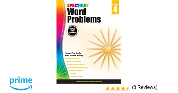 Word Problems, Grade 4 (Spectrum): Spectrum: 9781624427305: Amazon ...