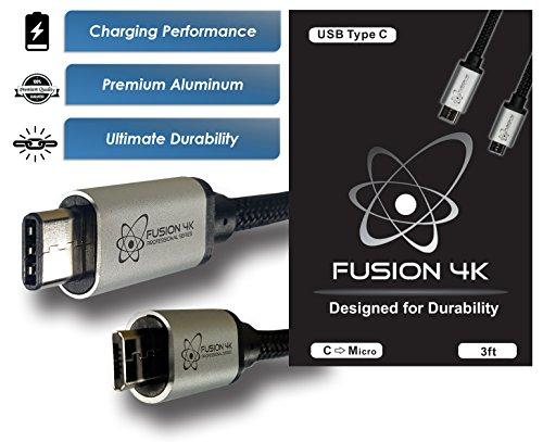 Fusion4K USB C to Micro USB PROFESSIONAL SERIES (3 feet)