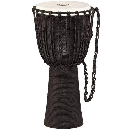 Meinl Percussion HDJ3-L Black River Series Headliner Rope Tuned Djembe, Large: 12-Inch Diameter