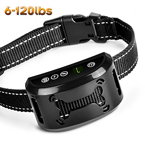 Bark Collar [New Version] Dog No Bark Collar Anti Bark Collar Shock Collars Stop Barking  with Sound/Vibration/No Harm Shock,Rechargeable and Rainproof Anti Bark Control for Small Medium and Large Dog
