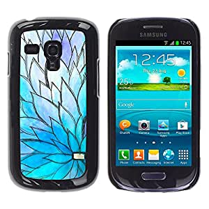 iKiki Tech / Estuche rígido - Floral Blue Purple Petal Spring - Samsung Galaxy S3 MINI NOT REGULAR! I8190 I8190N