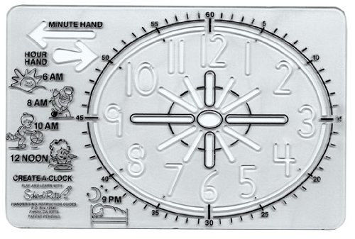 Rite Motor (School-Rite Educational Activity Template, Craft and Drawing Stencil for Kids Motor Skills, Create a Clock)