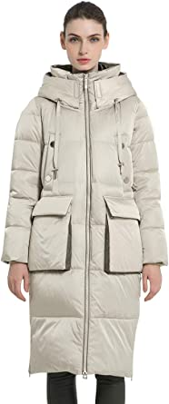 Women/'s Winter Thick Outdoor Jacket Stand Collar Thick Fur Mid Long Warm Coat