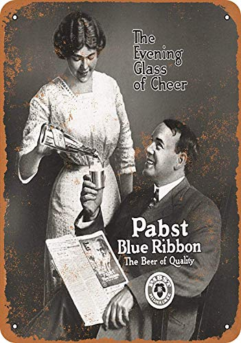 LoMall 8 x 12 Metal Sign - Pabst Blue Ribbon Beer Vintage for sale  Delivered anywhere in Canada