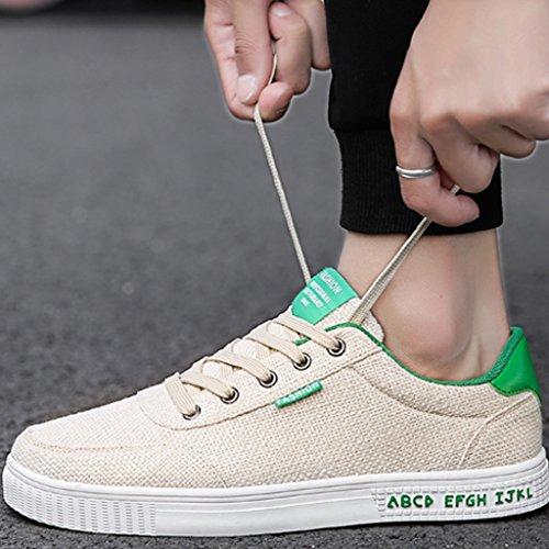 di Scarpe Scarpe tendenza basse YaNanHome Green selvaggia da Size estive 40 tela Black scarpe stile traspirante Color tela di coreano Espadrillas uomo scarpe casual di E4f7qT7