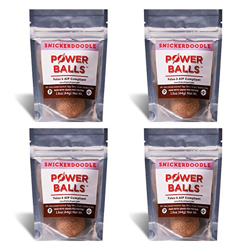 Power Balls Paleo Angel Healthy Paleo Approved Gluten Free AIP Protein Snack Bars (4 Pack) (Snickerdoodle)