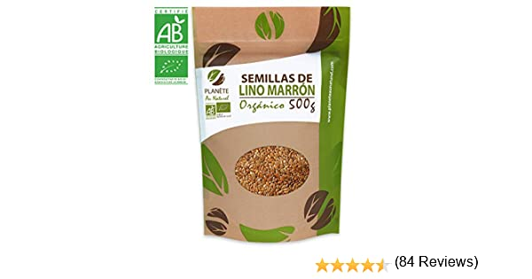 Semillas de Lino marrón Orgánico - 500g: Amazon.es: Alimentación y ...