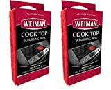 Weiman Cook Top Scrubbing Pads, 3 Count, 2 Pack Cuts Through the Toughest Stains - Scrubbing Pads Carefully Wipe Away Residue