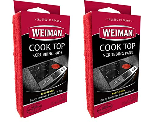 Kit Appliance Thermador (Weiman Cook Top Scrubbing Pads, 3 Count, 2 Pack Cuts Through the Toughest Stains - Scrubbing Pads Carefully Wipe Away Residue)