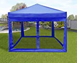 ZEYU HOME 10' x 10' White Instant Shelter Ez Pop-up Canopy Tent Wheeled Carry Bag