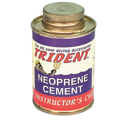 Trident Black Neoprene Cement 4 Ounce Can of Black ()