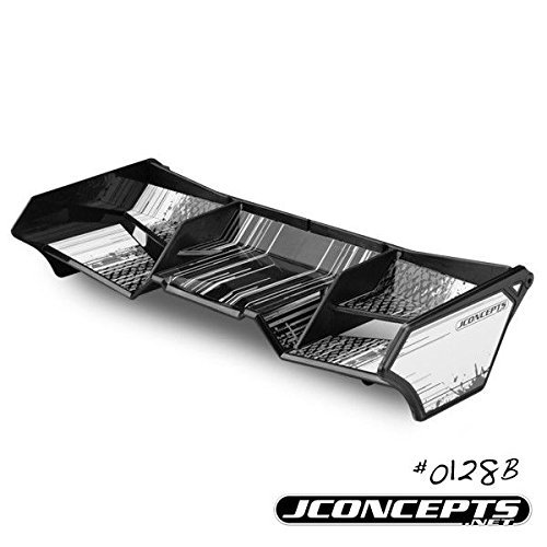 J Concepts 0128B 1/8Th Buggy/Truck Wing With Gurney Options (Black) JCO0128B