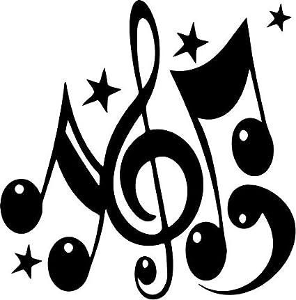 Amazon com: Crazydecals Symbols Music Vinyl Decal Sticker- 6