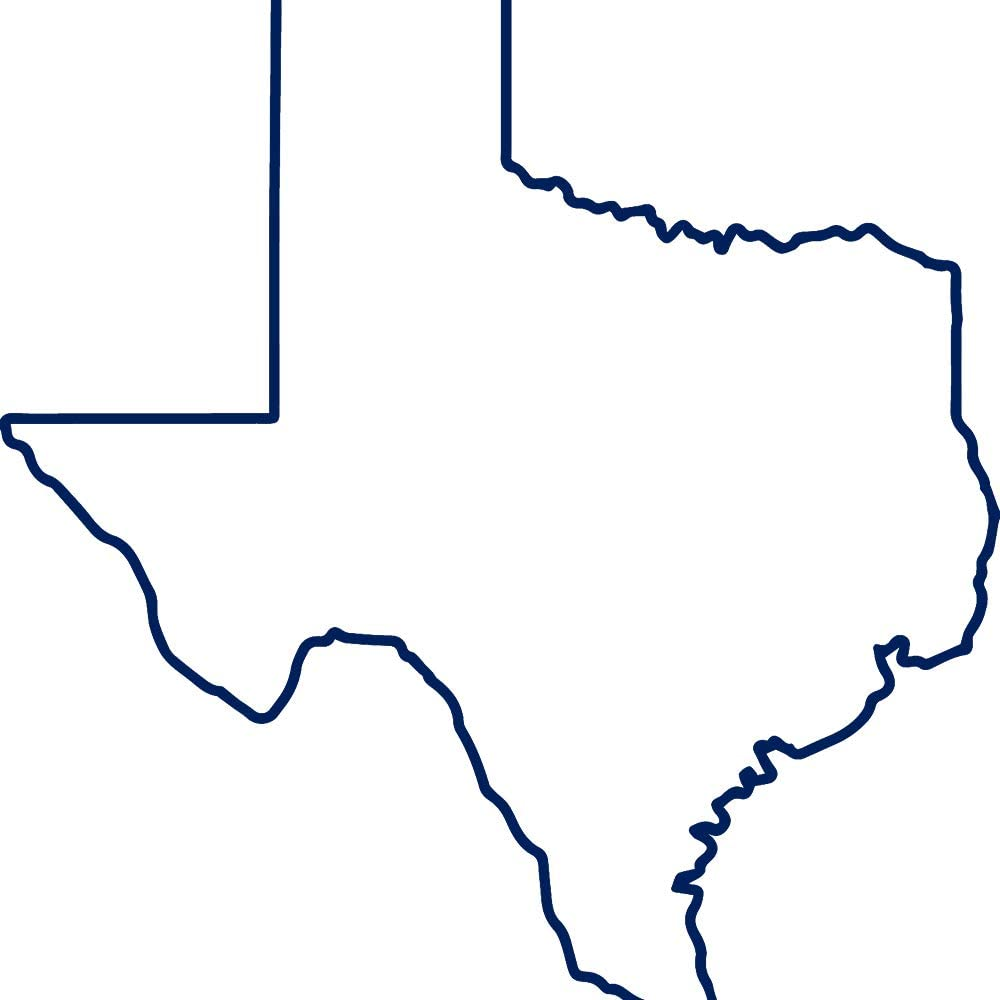 Amazon Com Angdest Texas Map Outline Navy Blue Set Of 2