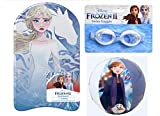 Girls Frozen II Foam Kickboard, Swim Goggles + Free Frozen Beach Ball