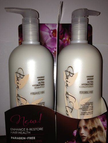 Bain de Terre Coconut Papaya Ultra Hydrating Shampoo & Conditioner, 2 Count