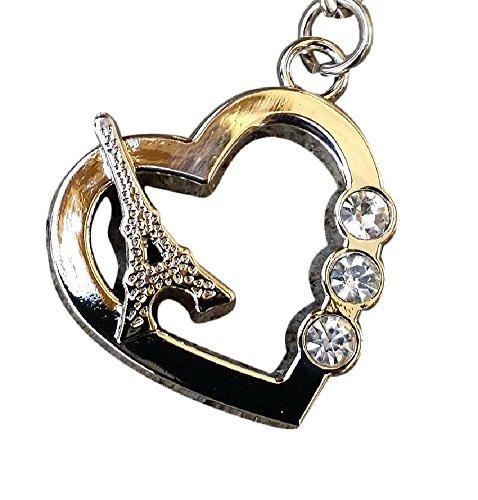 Rhinestone Bling Crystal Alphabet Letter(A-Z)Key-chains Keychains Handbags Charms (Diamond Heart)