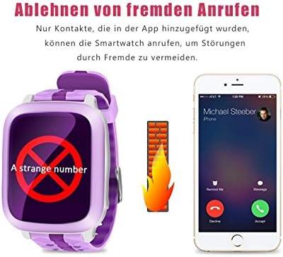 DUWIN SmartWatch teléfono con GPS Tracker para niños Chicos niñas ...
